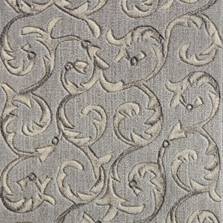Somerset Scrollwork Silver Carpet, 100% Opulon (50% Polyester/50% Acrylic)